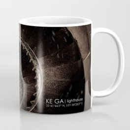 Ke Ga. Spiral staircase inside Lighthouse Coffee Mug
