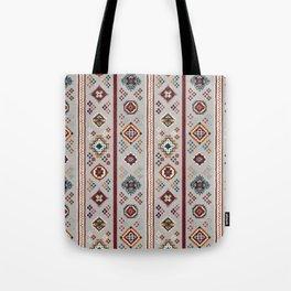Caucasian Rugs(Stripe) - White Tote Bag