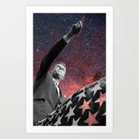 onward Art Prints featuring ONWARD by Steven Macherey Designs