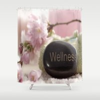 bathroom Shower Curtains featuring Bathroom Decoration by Tanja Riedel