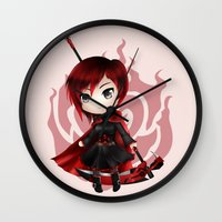 ruby Wall Clocks featuring Ruby by Louiology