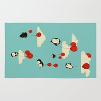 whimsical Area & Throw Rugs featuring We Can Fly! by Jay Fleck
