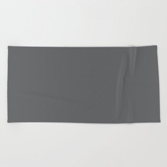 Simply Storm Gray Beach Towel