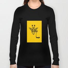 Coffee Giraffe Long Sleeve T-shirt
