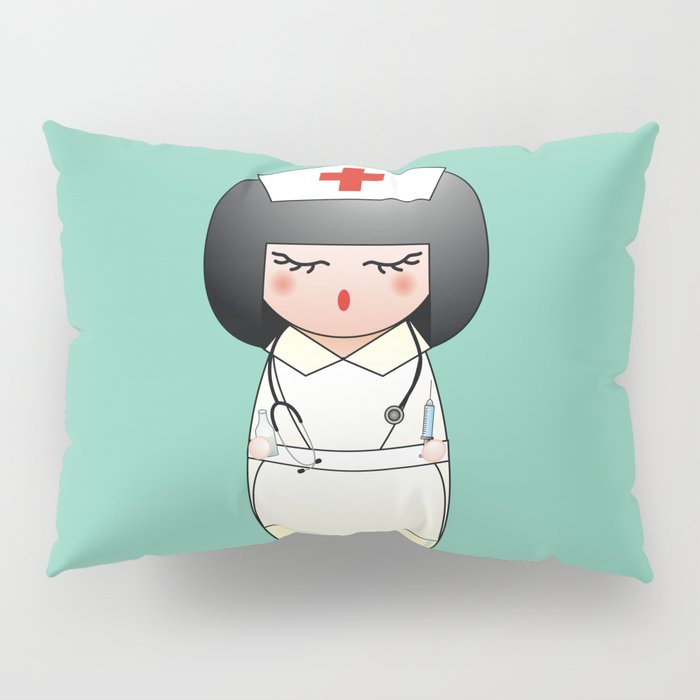 Kokeshi Nurse Pillow Sham