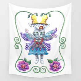 Angel Kitty Wall Tapestry