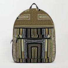 Gold Black Glam ArtDeco X5 Backpacks