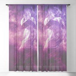 Hip Hop Dancer Sheer Curtain