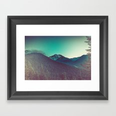 Mountains and Forest - Mt. Olympus in Olympic National Park Framed Art Print