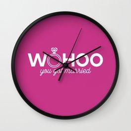 Woohoo you got married Wall Clock