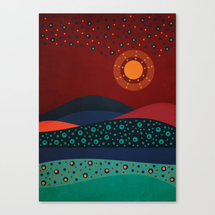 circular landscape Canvas Print