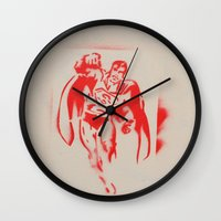 superman Wall Clocks featuring Superman by jfaiscquejveux