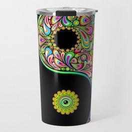 Yin Yang Bamboo Psychedelic Travel Mug