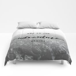 And So The Adventure Begins - Snowy Mountain Comforters