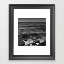 BEACH DAYS XX BW Framed Art Print