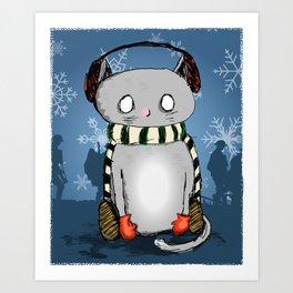 Snow Kitty Art Print