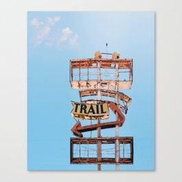 Vintage Neon Sign - The Spanish Trail -  Tucson Canvas Print