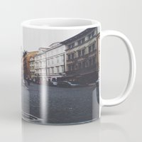 prague Mugs featuring PRAGUE by REASONandRHYME
