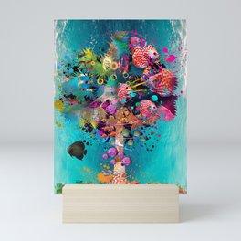 Surfing Palm Mini Art Print