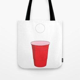 Beer Pong Illustration Tote Bag