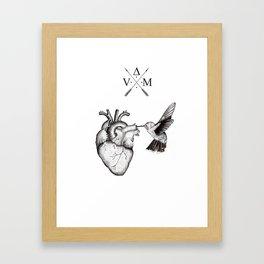 Humming Heart Framed Art Print