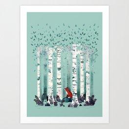 The Birches Art Print