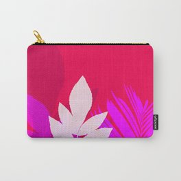 Leaves silhouette in pink and red  Jungle Brazil Carry-All Pouch