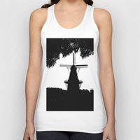 moulin rouge Tank Tops featuring Moulin Noir by Klaudia