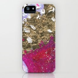 Abstraction World #1. Round version 4 iPhone Case