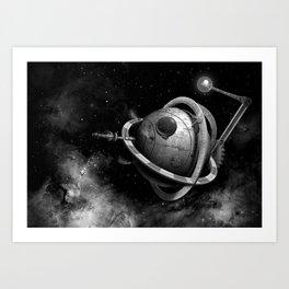 Steampunk Space Opera: Massive Solar-Orbiting Electro-Mechanical Analytic Engine, Mark 6 Art Print