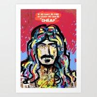zappa Art Prints featuring Zappa by Tolga Hirsova