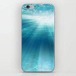 Light Rays Underwater iPhone Skin