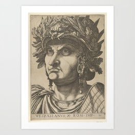 Vespasian with his head turned slightly to the left, from 'The Twelve Caesars' Art Print