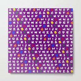 Abc's purple! Metal Print