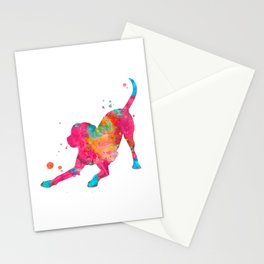 Colorful Playful Labrador Stationery Cards