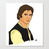 han solo Canvas Prints featuring Han Solo by Bleachydrew