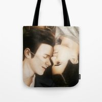 klaine Tote Bags featuring Klaine The Fault in Our Stars by weepingwillow