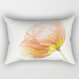 Pink Poppy Flower No. 1 | Flower Photograph Rectangular Pillow
