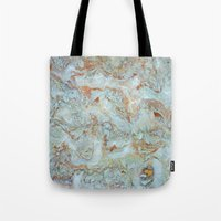 jewish Tote Bags featuring Marble in shades of blue and gold by Brown Eyed Lady