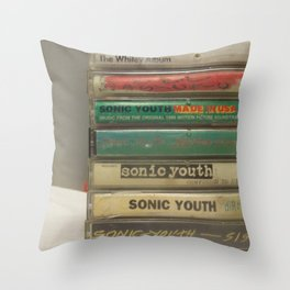 Sonic youth tapes Throw Pillow