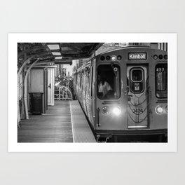 Getting on the Train Art Print