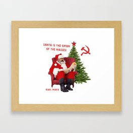 Karl Marx Santa Framed Art Print