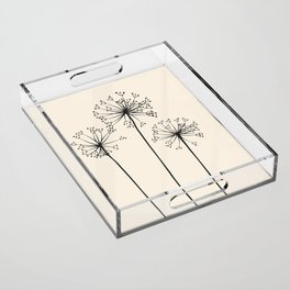 Dandelions Acrylic Tray
