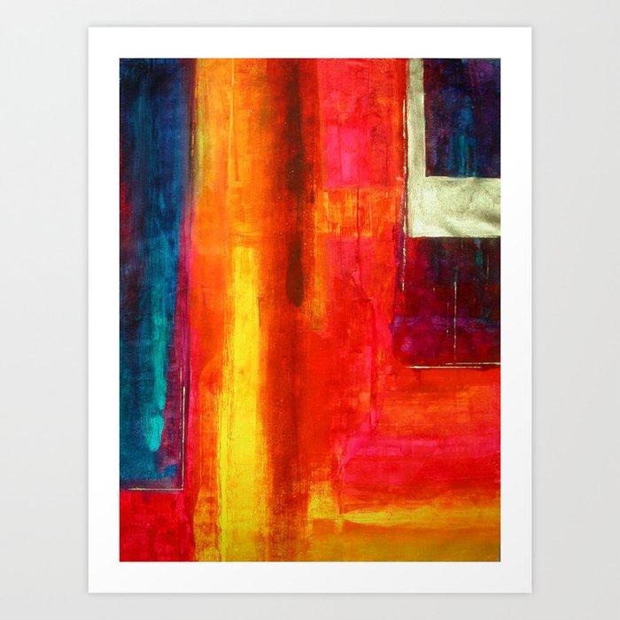 Philip Bowman Color Fields II Modern Abstract Art Painting Art Print