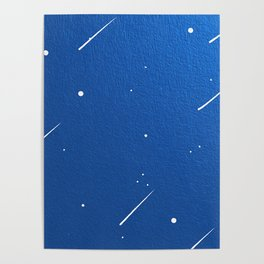 Shooting Stars in a Clear Blue Sky Poster