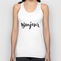 bonjour Tank Tops featuring bonjour by Matthew Taylor Wilson