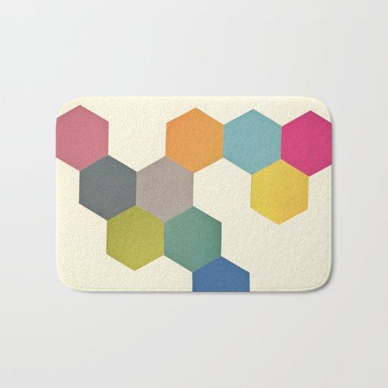 Honeycomb I Bath Mat