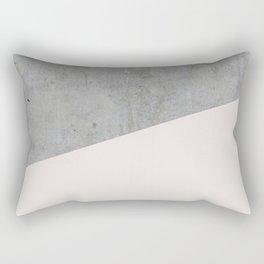 Concrete with Almost Mauve Color Rectangular Pillow