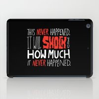 mad men iPad Cases featuring Mad Men by Chris Piascik