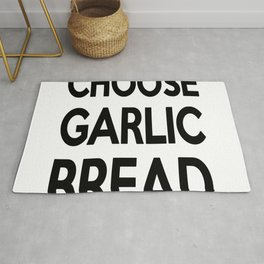 Choose Garlic Bread Rug